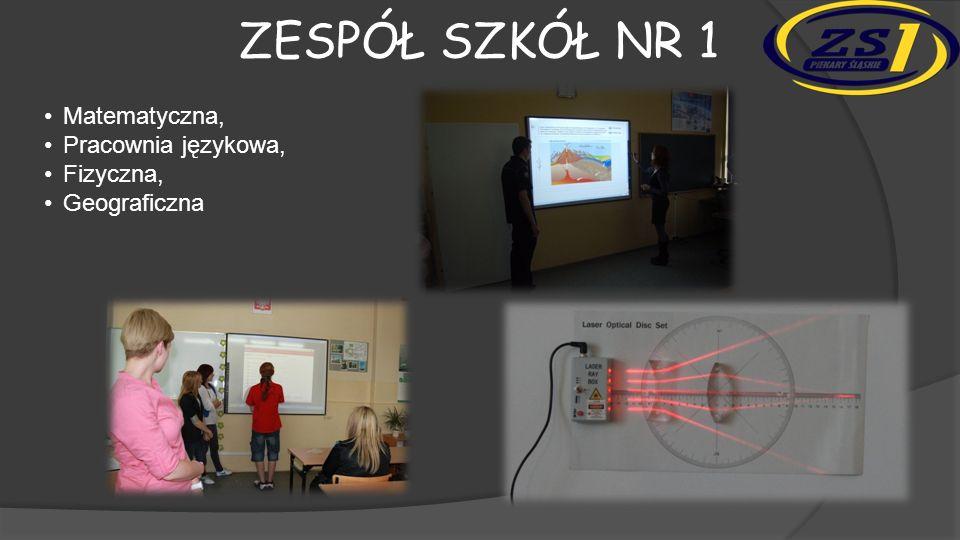 ZESPÓŁ SZKÓŁ NR 1 Szkoła posiada wydajną sieć intranetową, wykonaną w technologii przewodowej, światłowodowej, a także wielopunktowej sieci bezprzewodowej WIFI.