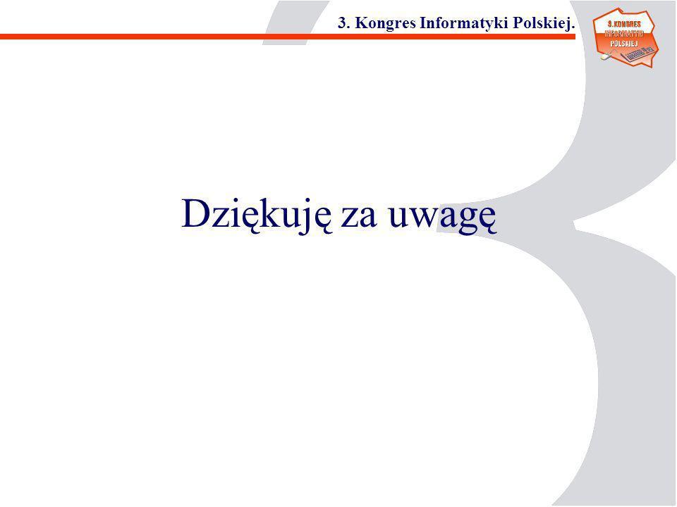 3. Kongres Informatyki Polskiej. Dziękuję za uwagę