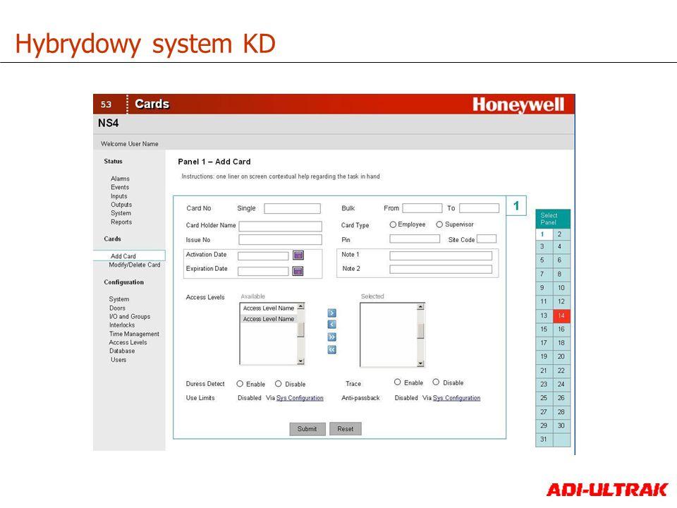 Audyt i raportowanie Zarządzanie użytkownikami i kartami Sterowanie kontrolerami i podgląd na żywo w czasie rzeczywistym Wbudowany LINUX Web Server Jedno lub wielostanowiskowa aplikacja Wysoki poziom bezpieczeństwa z szyfrowaniem SSL Szybka instalacja wstępnie przygotowanych kontrolerów Hybrydowy system KD