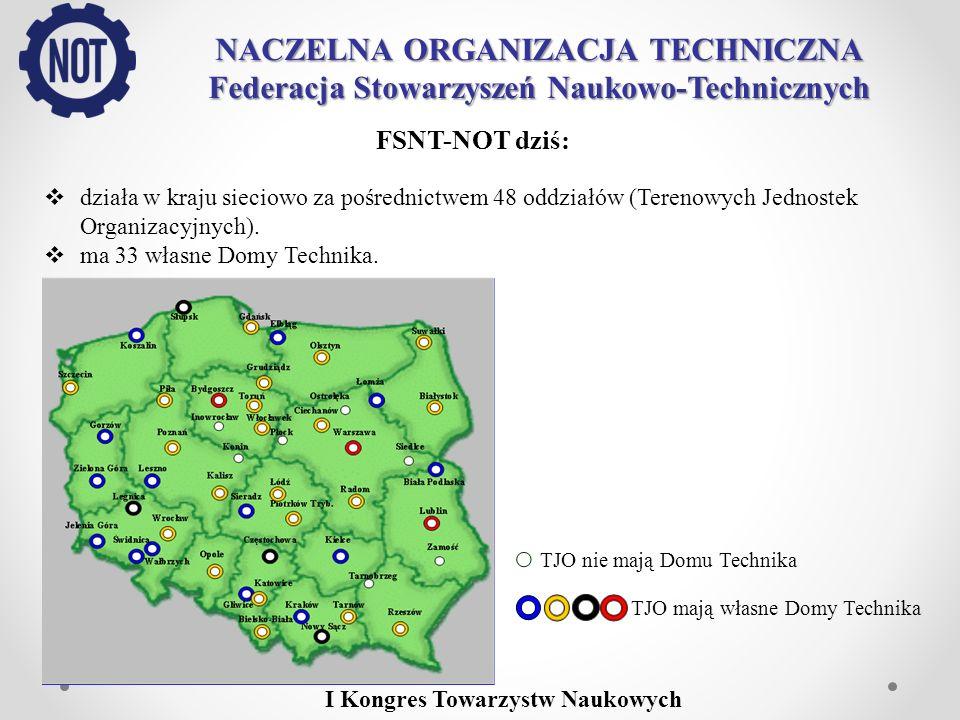 NACZELNA ORGANIZACJA TECHNICZNA Federacja Stowarzyszeń Naukowo-Technicznych SNT – gospodarce: W 2009 r.