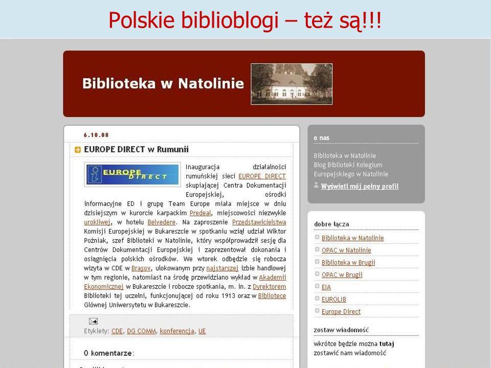 Polskie biblioblogi – też są!!!