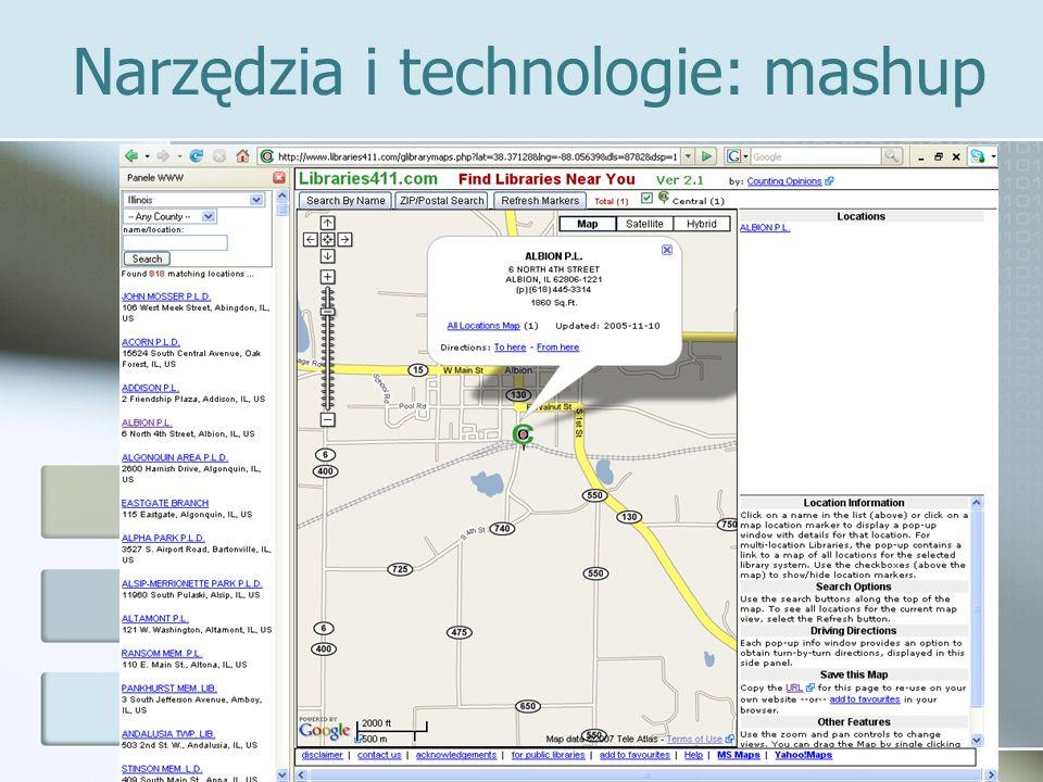 Narzędzia i technologie: mashup