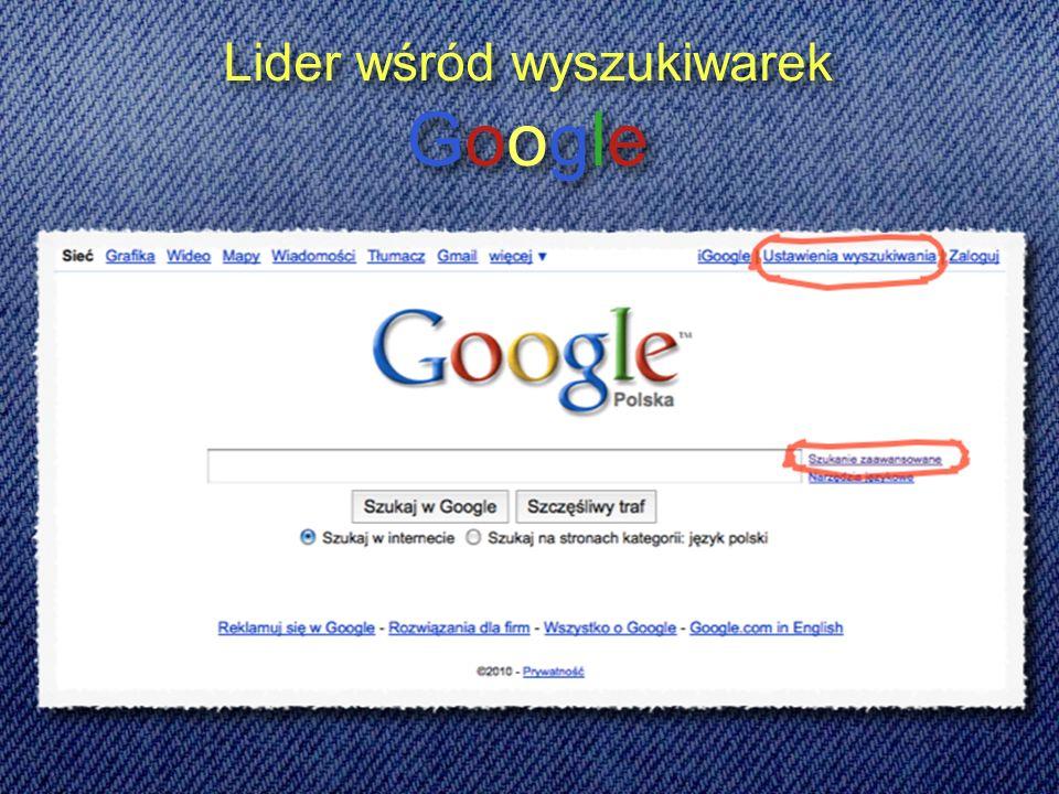 Lider wśród wyszukiwarek Google