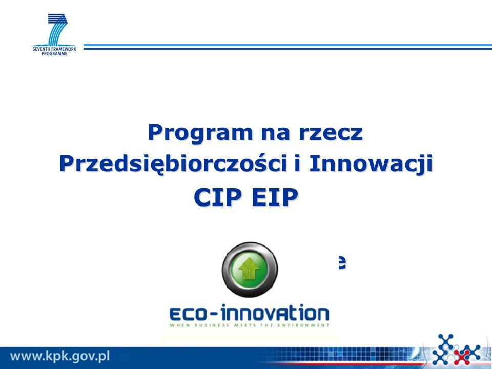Program na rzecz Przedsiębiorczości i Innowacji CIP EIP Eko-innowacje