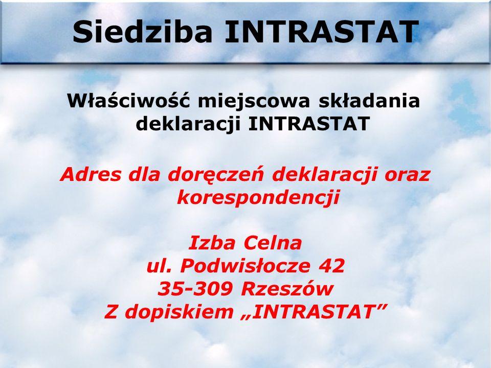 Internet WWW.PRZEMYSL.IC.GOV.PL Wszelkie informacje dotyczące INTRASTATU można znaleźć na stronie internetowej Izby Celnej w Przemyślu klikając na gra