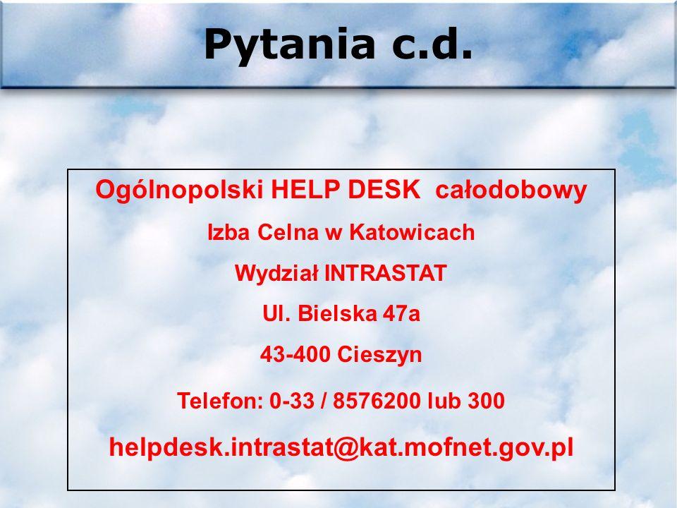 Pytania intrastat@mofnet.gov.pl Adres komórki INTRASTAT Izby Celnej w Przemyślu ic.intrastat@prz.mofnet.gov.pl Pytania proszę kierować do...