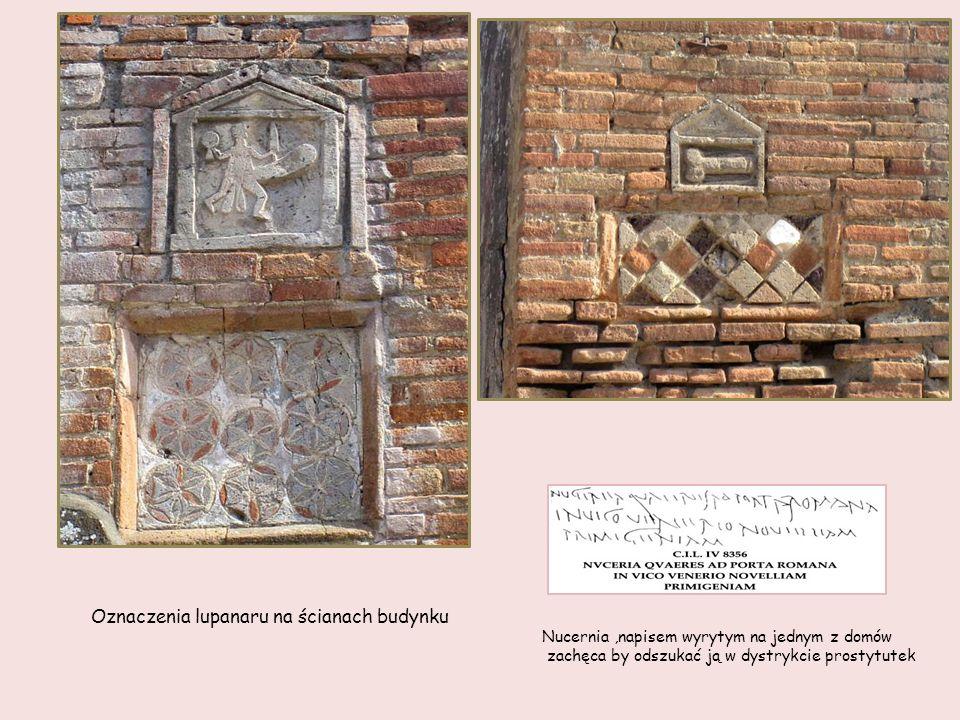 Lupanar bardzo popularne miejsce w Pompejach - starożytny odpowiednik domu publicznego.