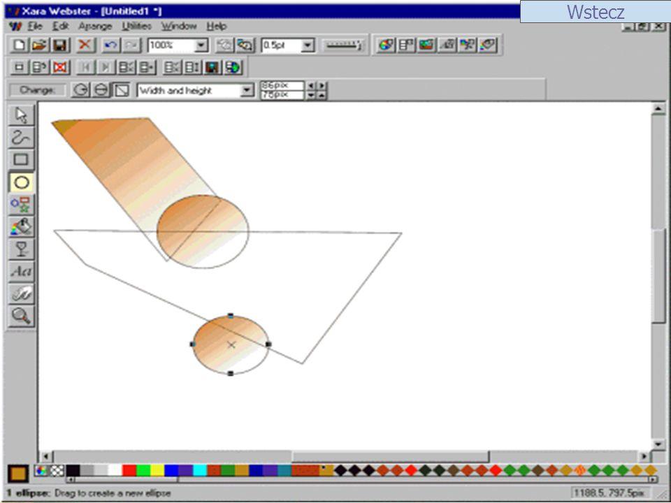 ScreenShot 1 Xara X Xara X przewyższa inne programy wektorowe poziomem obsługi przejść tonalnych i wygładzaniem krawędzi.
