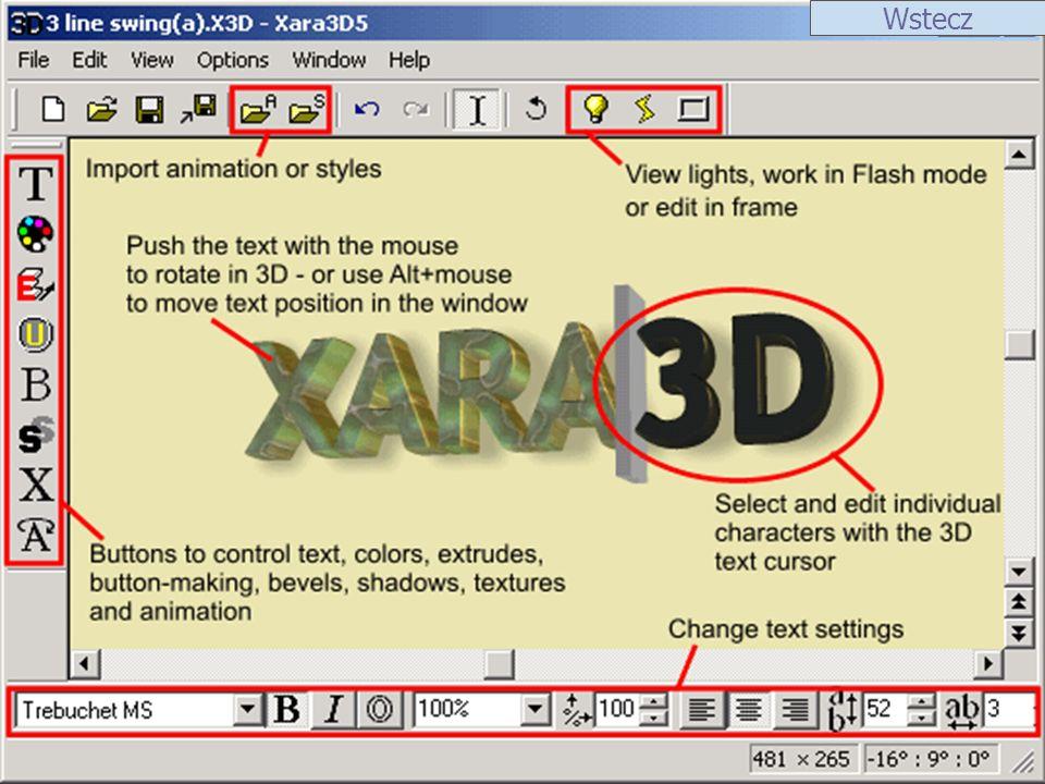 ScreenShot 1ScreenShot 2 Xara Webstyle Xara Webstyle służy do tworzenia grafiki na potrzeby stron WWW z wykorzystniem techniki szablonów.