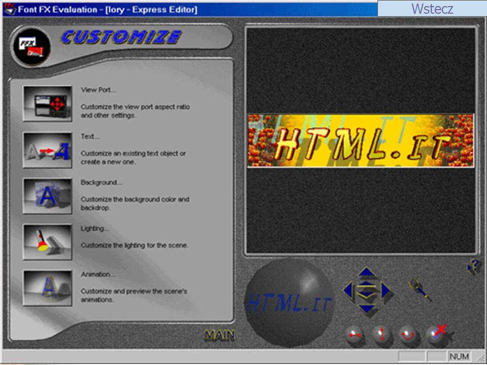 ScreenShot 1ScreenShot 2 Ulead Cool 3D Ulead Cool 3D v.3.5 to doskonałe narzędzie służące do tworzenia dwu- i trójwymiarowych napisów, do dokumentów, prezentacji raportów, klipów wideo oraz na strony WWW.