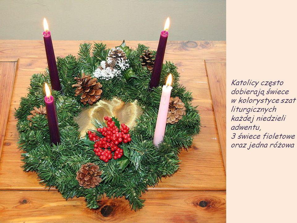 Na terenie Warmii i Mazur w I. niedzielę adwentu robiono z choiny wianek i przystrajano czerwonymi wstążkami. Następnie umieszczano na nim świeczkę. P