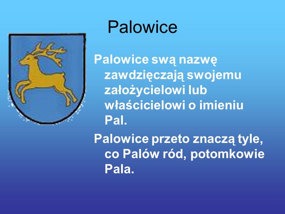Palowice Palowice swą nazwę zawdzięczają swojemu założycielowi lub właścicielowi o imieniu Pal.