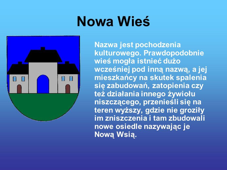 Nowa Wieś Nazwa jest pochodzenia kulturowego.
