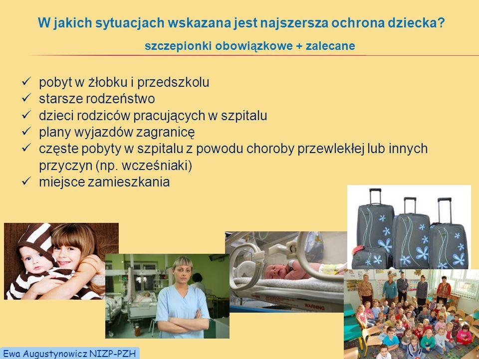 W jakich sytuacjach wskazana jest najszersza ochrona dziecka? pobyt w żłobku i przedszkolu starsze rodzeństwo dzieci rodziców pracujących w szpitalu p