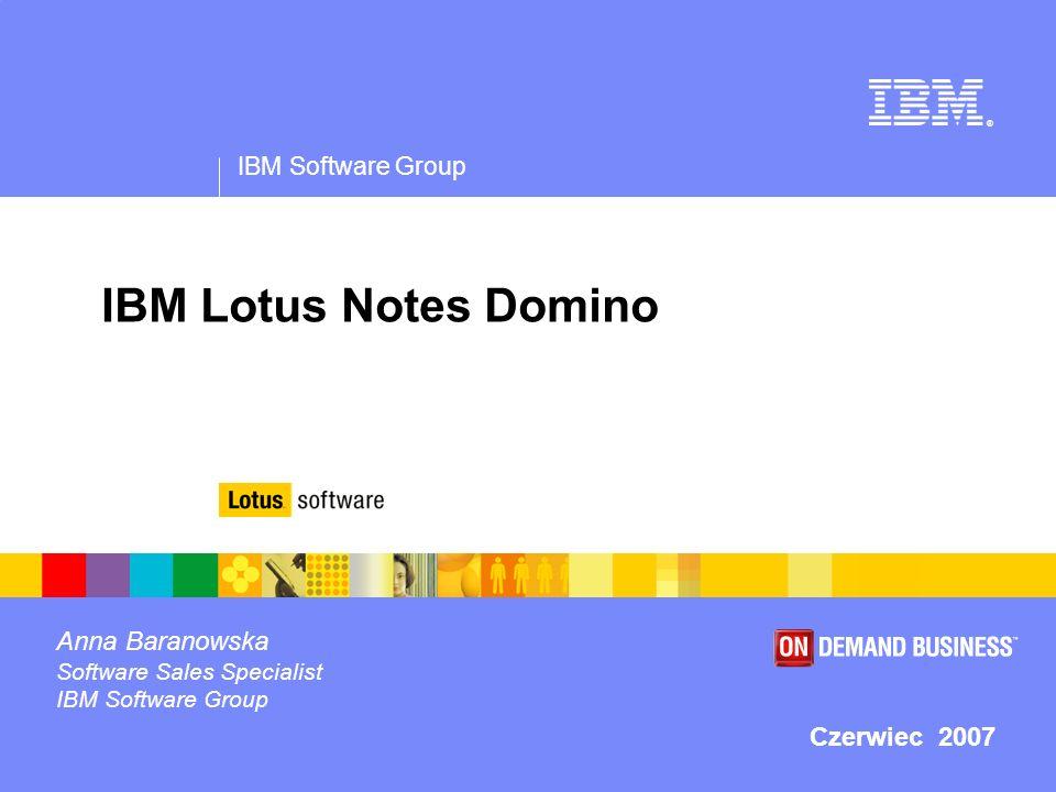 © 2005 IBM Corporation IBM Software Group | Lotus software Dlaczego platforma IBM Lotus Notes Domino.
