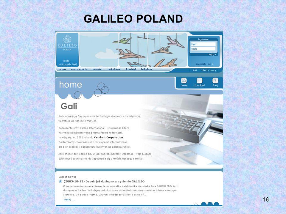 16 GALILEO POLAND