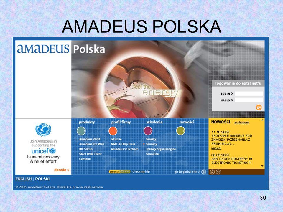 30 AMADEUS POLSKA