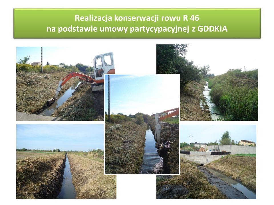Realizacja konserwacji rowu R-46 na podstawie umowy partycypacyjnej z GDDKiA Realizacja konserwacji rowu R 46 na podstawie umowy partycypacyjnej z GDD