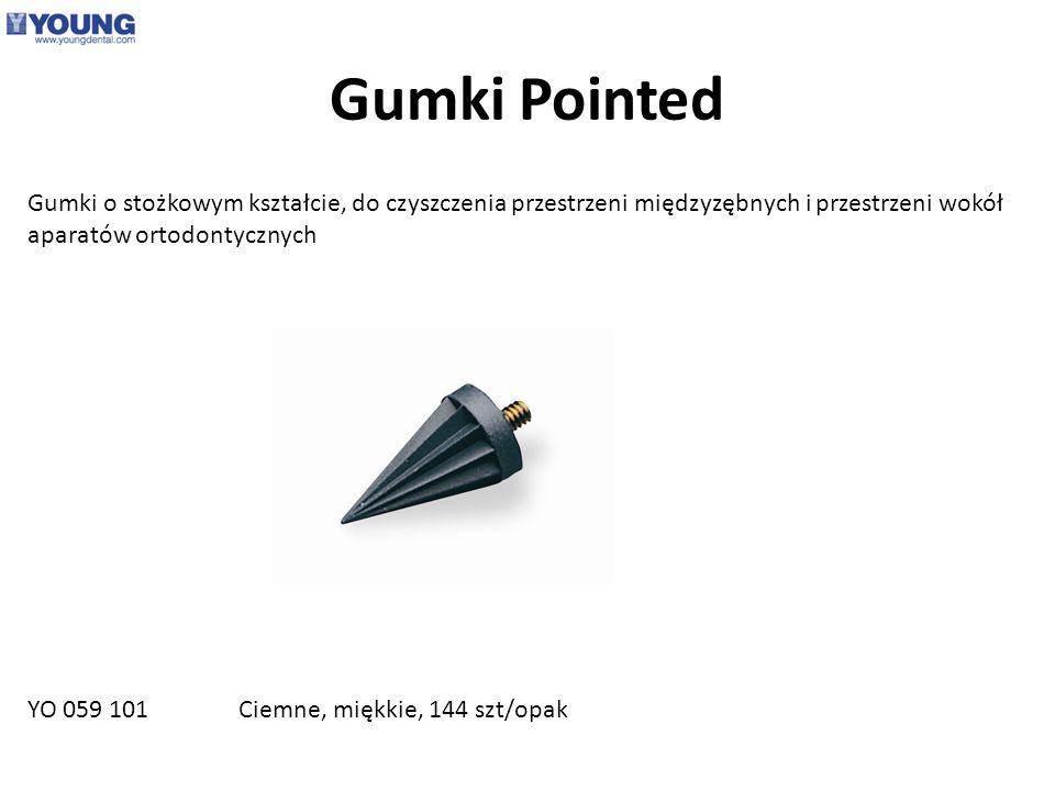 Gumki Pointed Gumki o stożkowym kształcie, do czyszczenia przestrzeni międzyzębnych i przestrzeni wokół aparatów ortodontycznych YO 059 101 Ciemne, mi