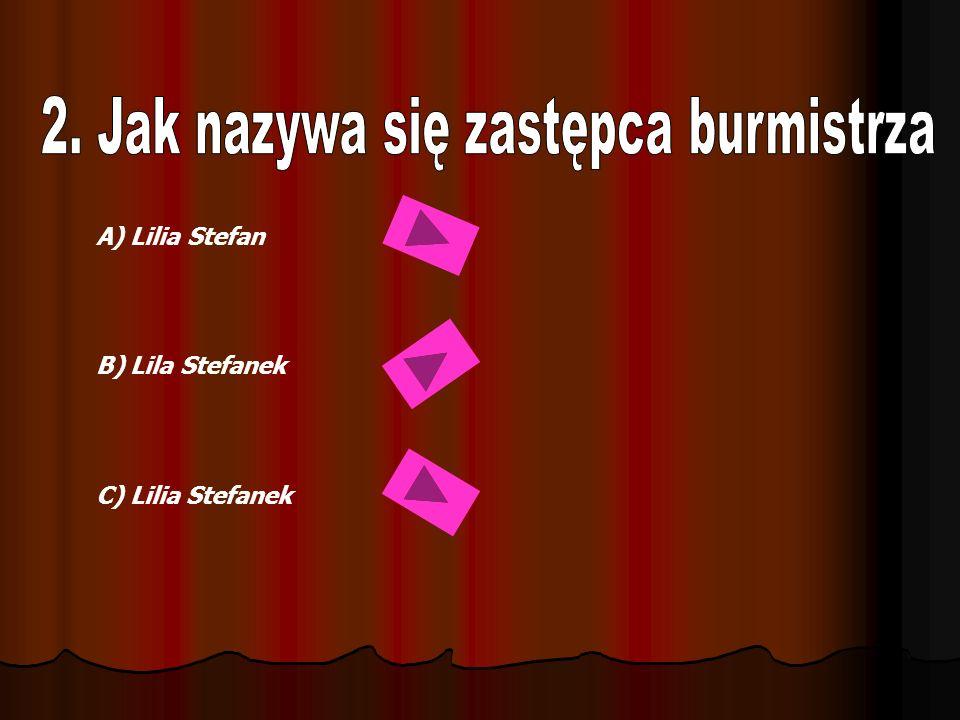 A) Lilia Stefan B) Lila Stefanek C) Lilia Stefanek