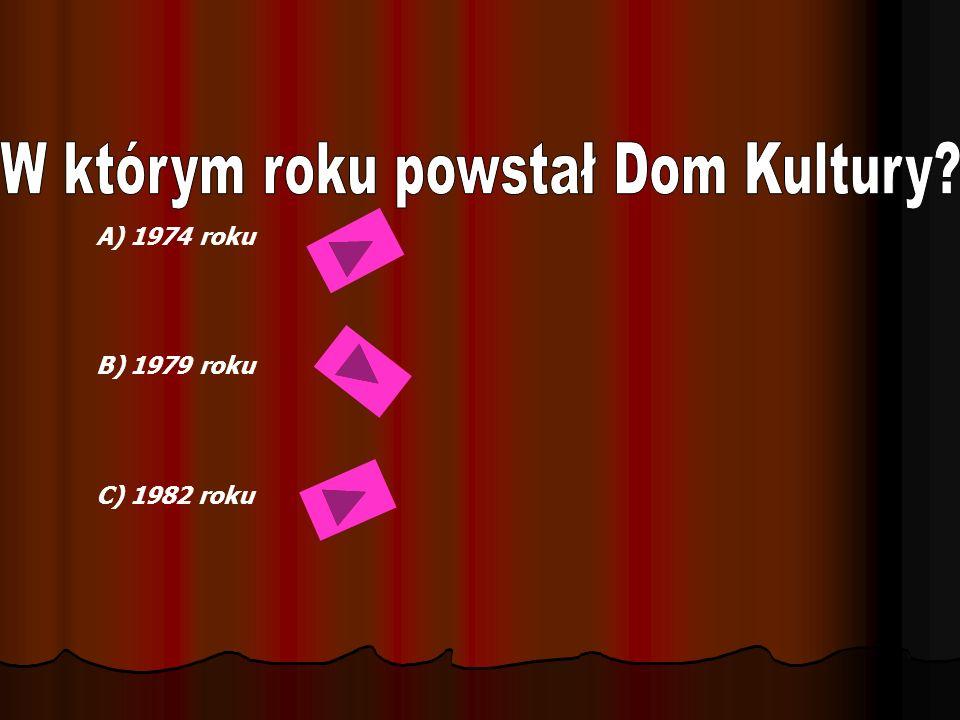 A) 1974 roku B) 1979 roku C) 1982 roku