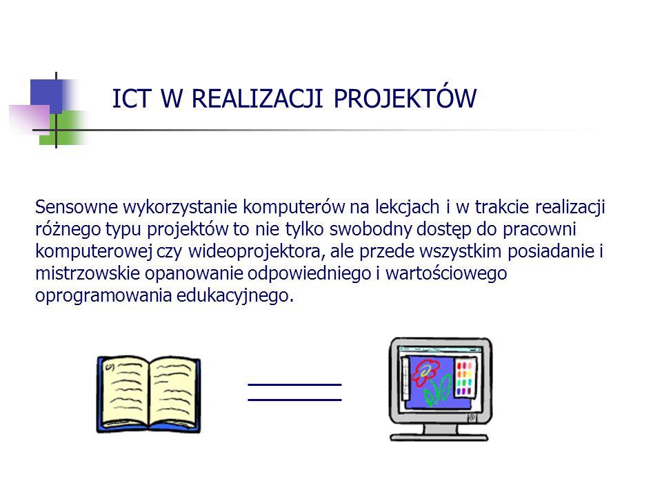 Sensowne wykorzystanie komputerów na lekcjach i w trakcie realizacji różnego typu projektów to nie tylko swobodny dostęp do pracowni komputerowej czy