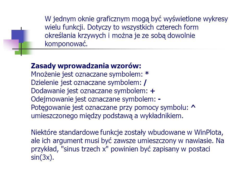 Zasady wprowadzania wzorów: Mnożenie jest oznaczane symbolem: * Dzielenie jest oznaczane symbolem: / Dodawanie jest oznaczane symbolem: + Odejmowanie
