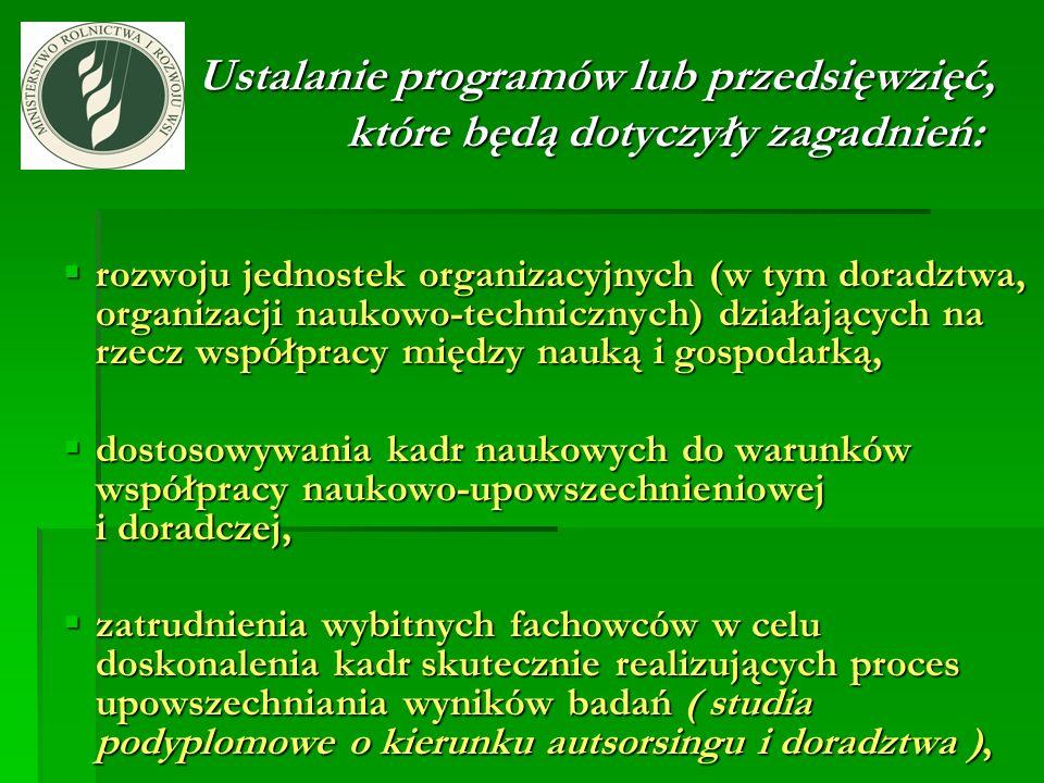 Ustalanie programów lub przedsięwzięć, które będą dotyczyły zagadnień: Ustalanie programów lub przedsięwzięć, które będą dotyczyły zagadnień: rozwoju