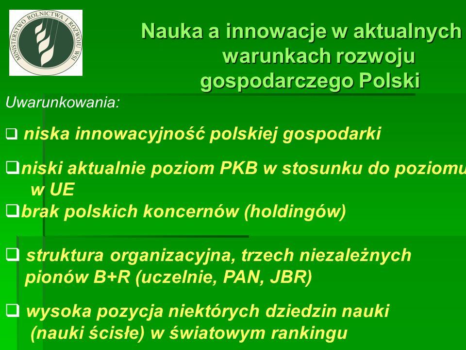 Nauka a innowacje w aktualnych Nauka a innowacje w aktualnych warunkach rozwoju warunkach rozwoju gospodarczego Polski gospodarczego Polski Uwarunkowa
