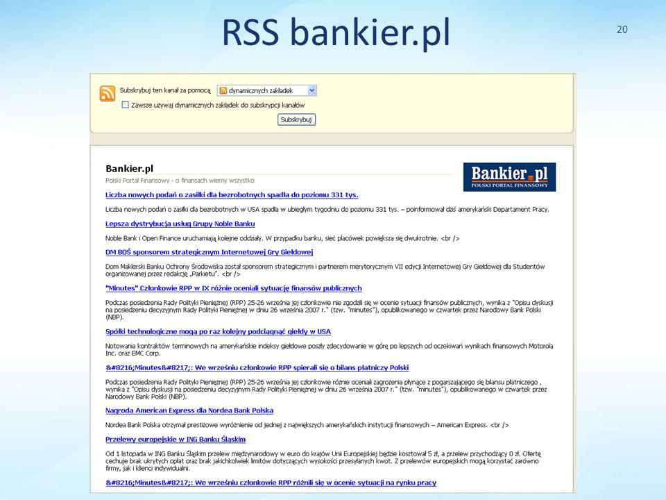 RSS bankier.pl 20