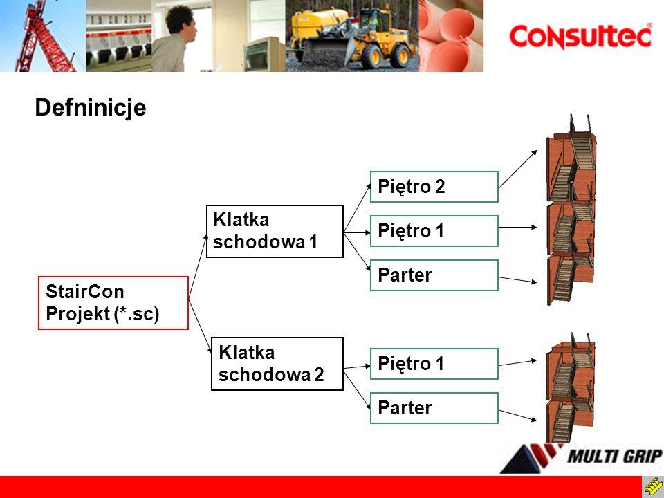 Standardy StairCon Unikalne ustawienia w bazie danych StairCona Modele schodów Sposoby mocowania Policzki Stopnie Balustrady..itp.