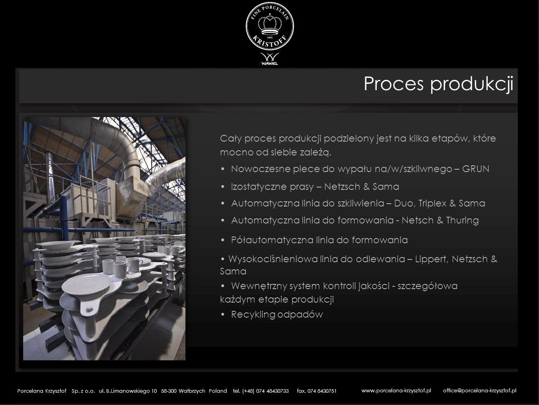 Proces produkcji Cały proces produkcji podzielony jest na kilka etapów, które mocno od siebie zależą. Nowoczesne piece do wypału na/w/szkliwnego – GRU