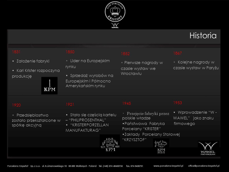 1993 Przekształcenia własnościowe Spółka Akcyjna Fabryka Porcelany KRZYSZTOF S.A.