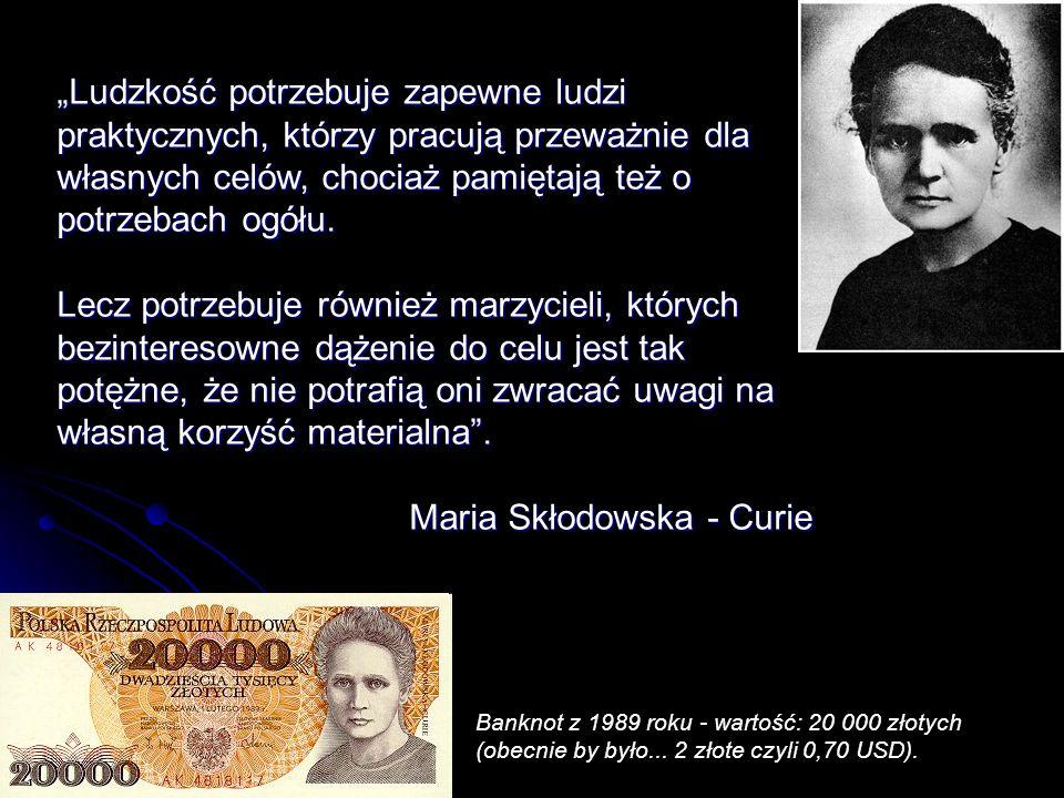 Jej dziadek, Józef Skłodowski, był szanowanym lubelskim pedagogiem.