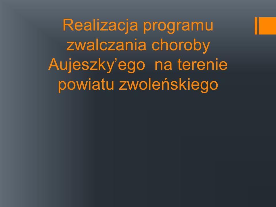 Realizacja programu zwalczania choroby Aujeszkyego na terenie powiatu zwoleńskiego