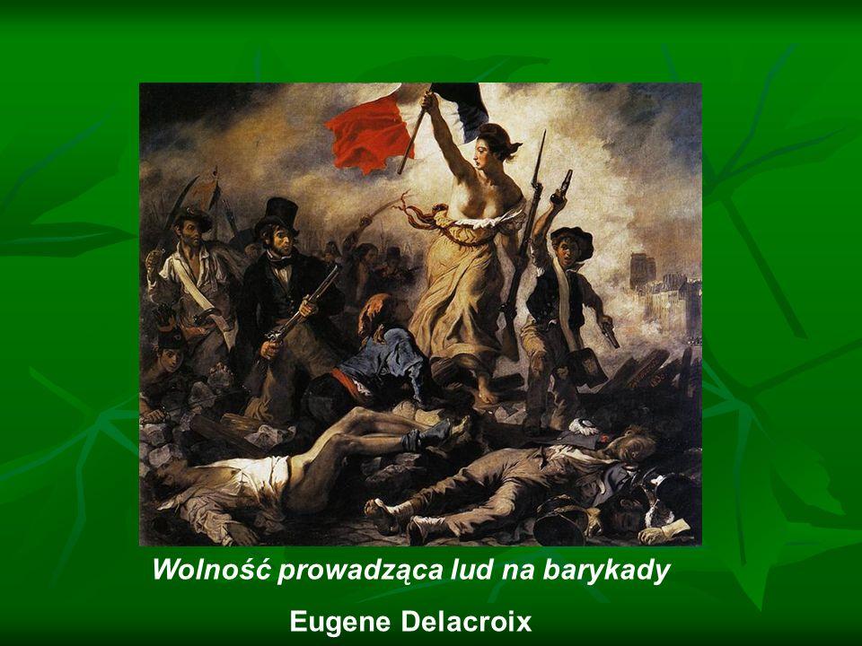 Wolność prowadząca lud na barykady Eugene Delacroix
