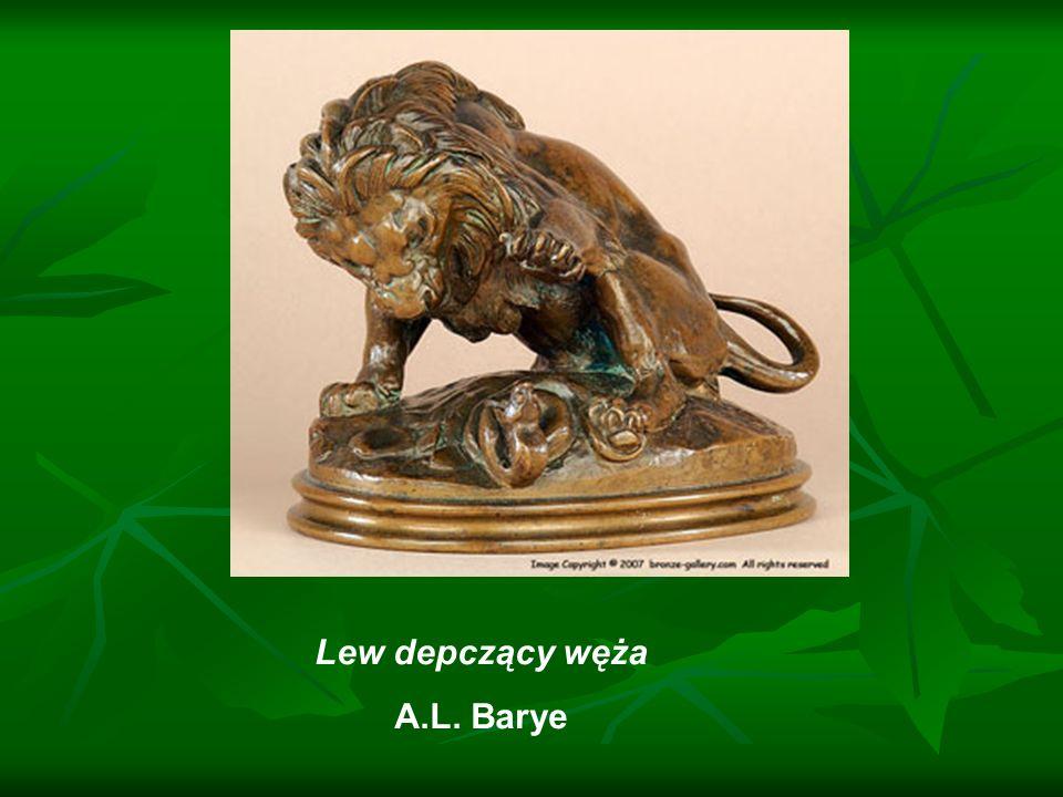 Lew depczący węża A.L. Barye