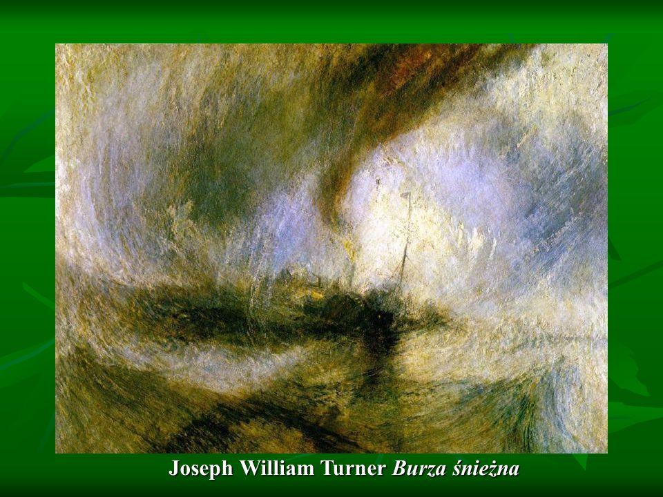 Joseph William Turner Burza śnieżna