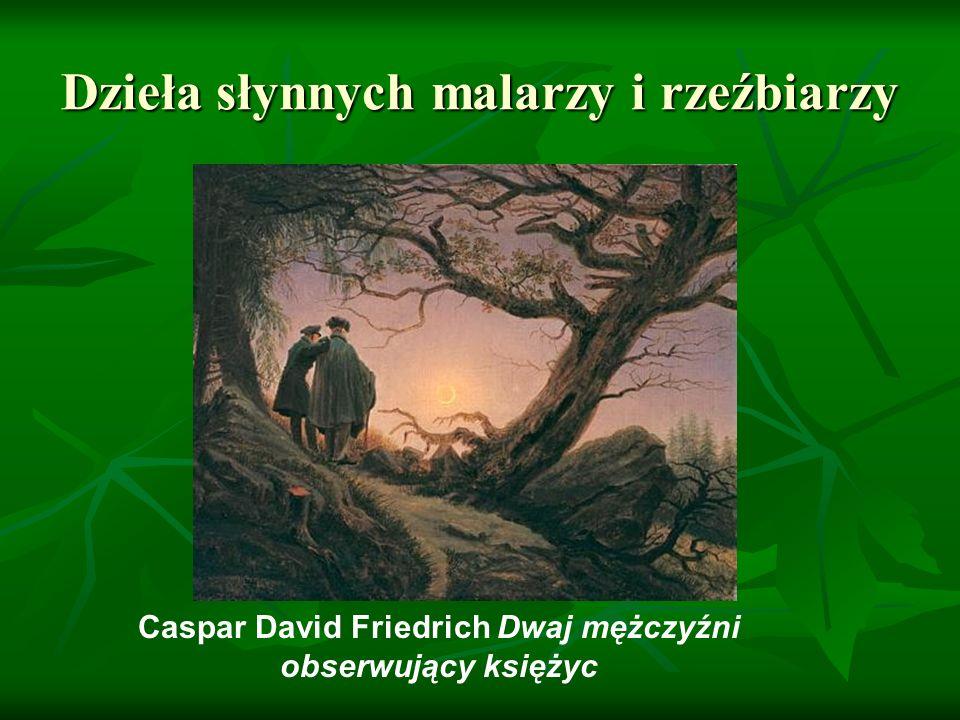 Dzieła słynnych malarzy i rzeźbiarzy Caspar David Friedrich Dwaj mężczyźni obserwujący księżyc
