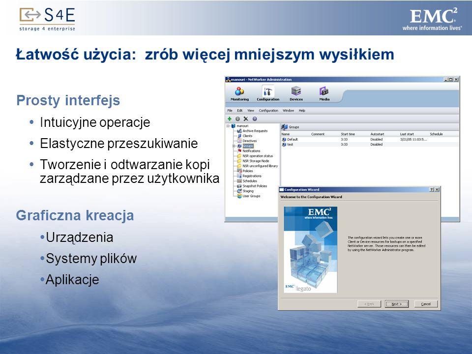 22 Prosty interfejs Intuicyjne operacje Elastyczne przeszukiwanie Tworzenie i odtwarzanie kopi zarządzane przez użytkownika Łatwość użycia: zrób więce