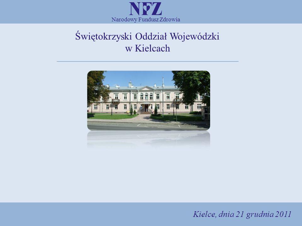 Narodowy Fundusz Zdrowia Świętokrzyski Oddział Wojewódzki w Kielcach 1 Kielce, dnia 21 grudnia 2011