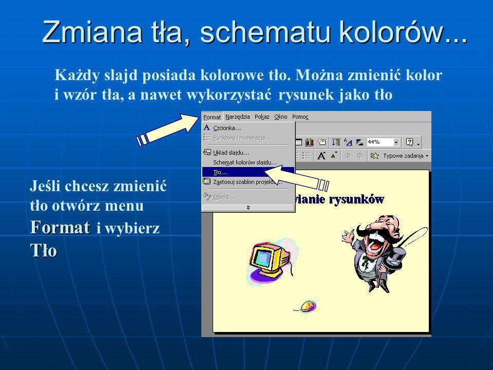 Obiekty możesz również wstawiać za pomocą przycisków umieszczonych na odpowiednich paskach narzędzi. Tabela Wykres WordArt Pole tekstowe ClipArt