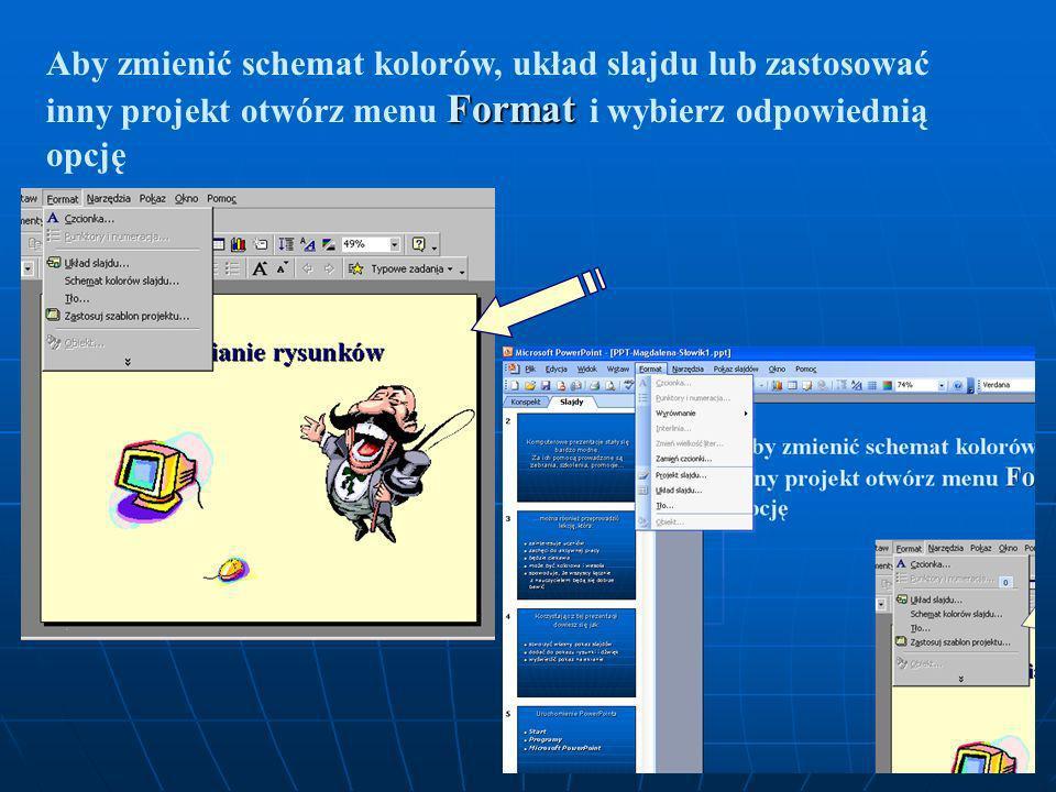 Uruchomienie PowerPointa Uruchomienie PowerPointa Start Start Programy Programy Microsoft Office Microsoft Office Microsoft PowerPoint Microsoft Power