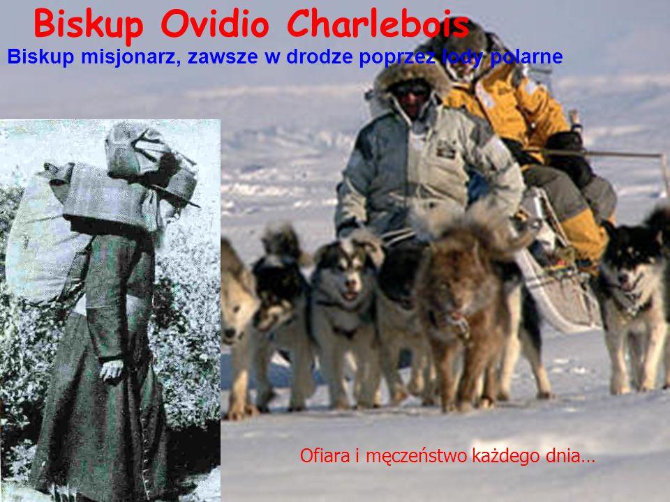 Biskup Ovidio Charlebois Biskup misjonarz, zawsze w drodze poprzez lody polarne Ofiara i męczeństwo każdego dnia…