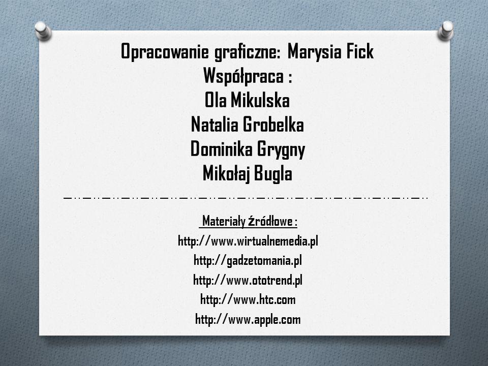 Materiały ź ródłowe : http://www.wirtualnemedia.pl http://gadzetomania.pl http://www.ototrend.pl http://www.htc.com http://www.apple.com Opracowanie g