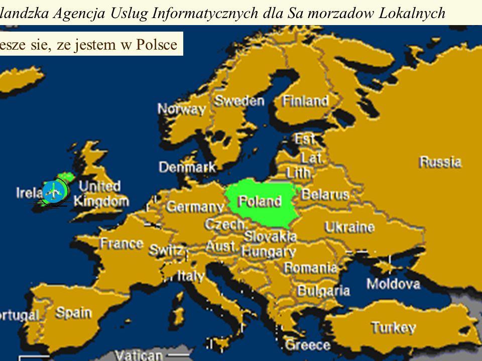 Irlandzka Agencja Uslug Informatycznych dla Sa morzadow Lokalnych Ciesze sie, ze jestem w Polsce