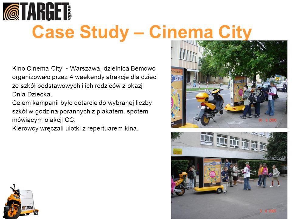 Case Study – Cinema City Kino Cinema City - Warszawa, dzielnica Bemowo organizowało przez 4 weekendy atrakcje dla dzieci ze szkół podstawowych i ich rodziców z okazji Dnia Dziecka.