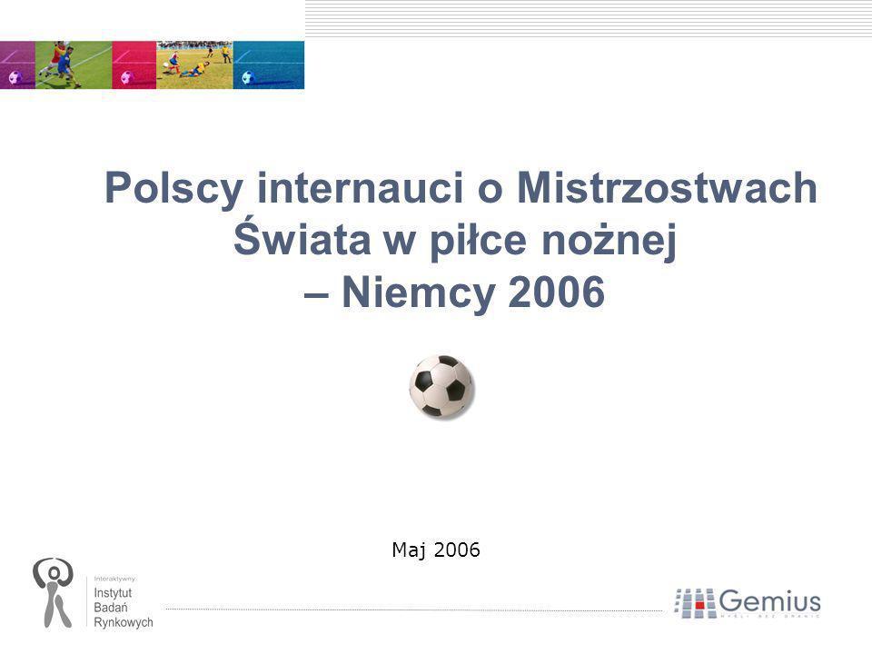 Polscy internauci o Mistrzostwach Świata w piłce nożnej – Niemcy 2006 Maj 2006