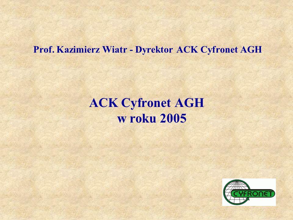 Prof. Kazimierz Wiatr - Dyrektor ACK Cyfronet AGH ACK Cyfronet AGH w roku 2005