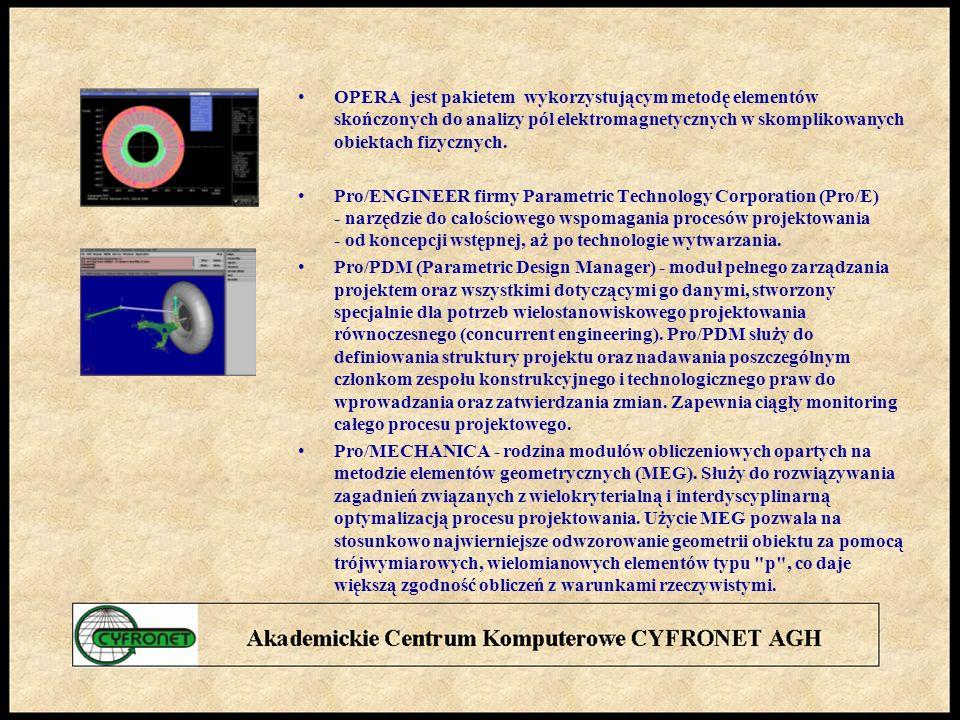 OPERA jest pakietem wykorzystującym metodę elementów skończonych do analizy pól elektromagnetycznych w skomplikowanych obiektach fizycznych.
